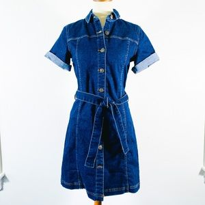ASOS Denim Button Up Dress